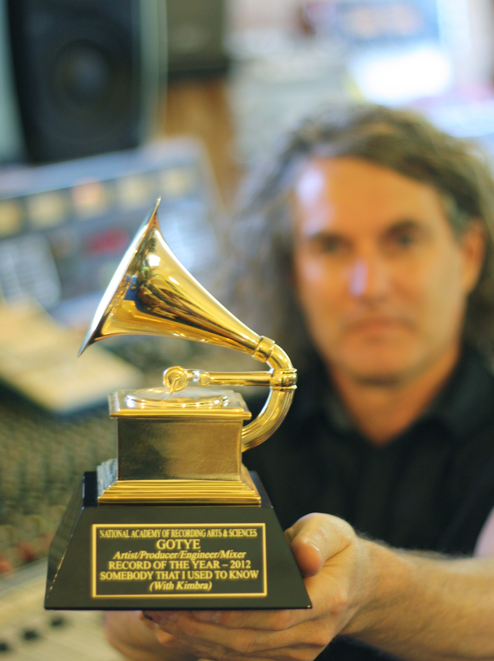 Grammy in the studio with Andy